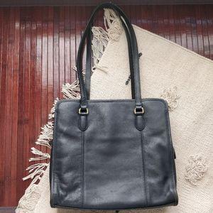 Coach Vintage Black Leather Vintage Shoulder Bag